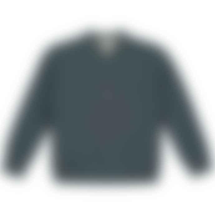 Gray Label Blue Grey Baseball Cardigan