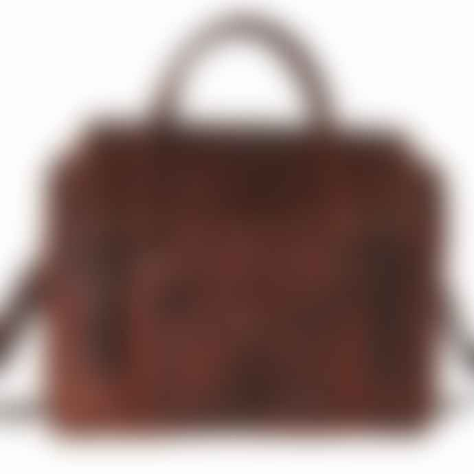 Vida Vida Large Leather Laptop Handbag