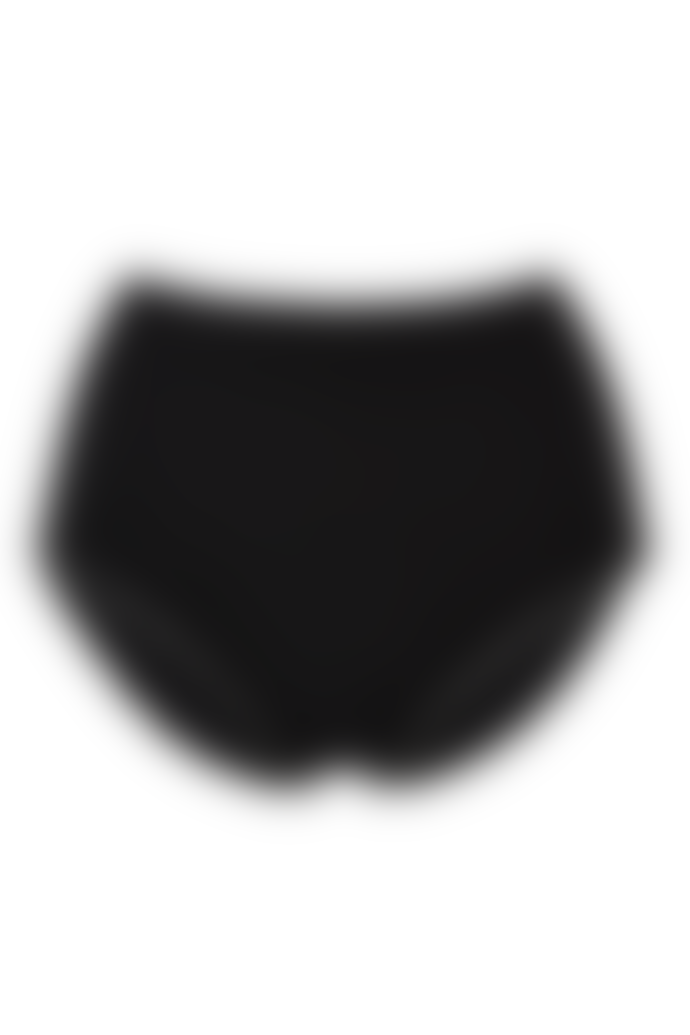 People Tree 95% Organic Cotton High Waist Briefs in Black