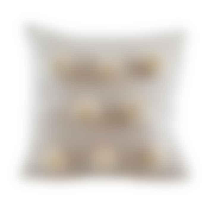 Homewood & Rose Giant Pom Pom Cushion Cream