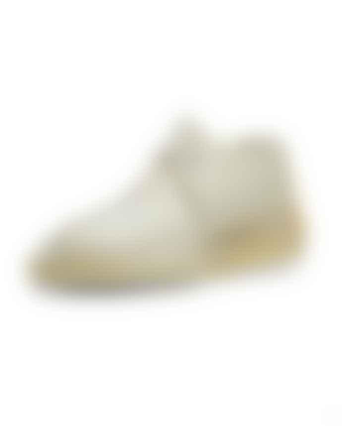 Clarks Originals Off White Suede Desert Trek Shoe