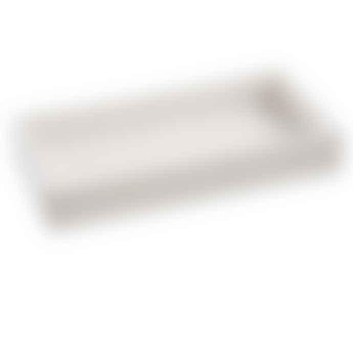 adorist White Marble Rectangular Tray