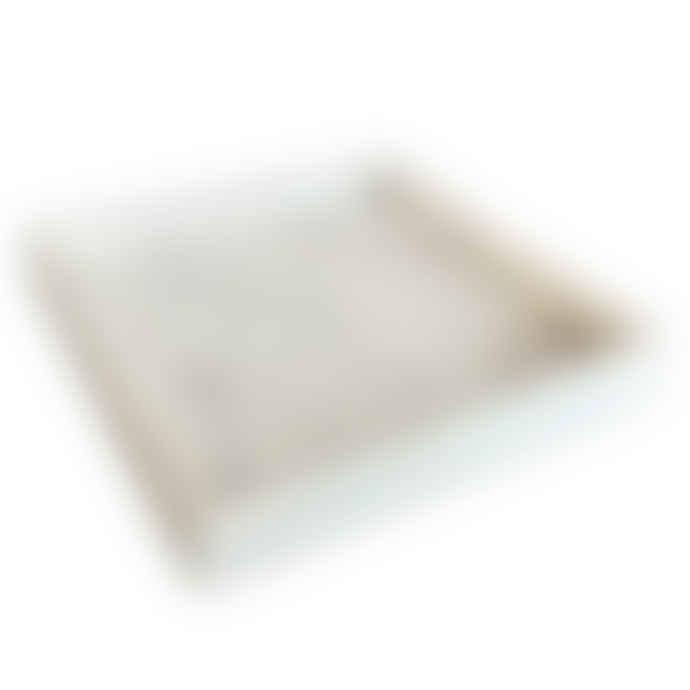 adorist White Marble Square Tray