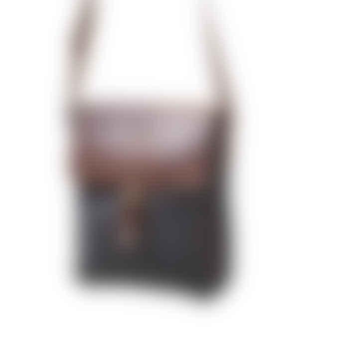 Vida Vida Leather and Canvas Messenger Bag