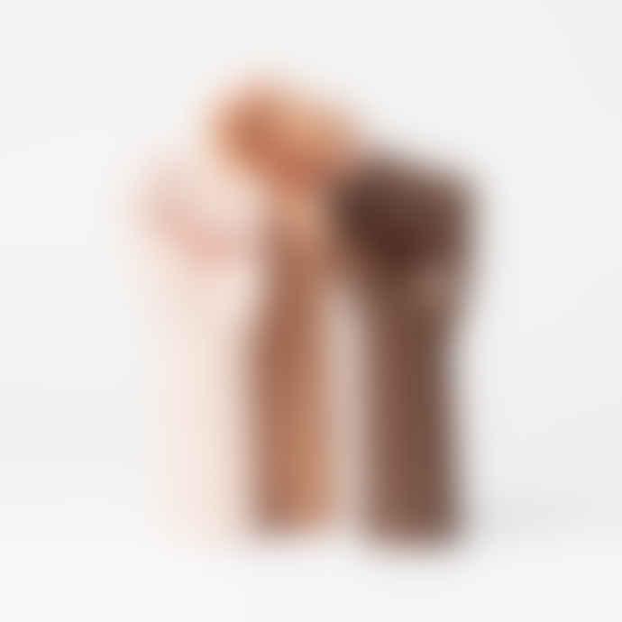 DOIY Design Dark Brown Ceramic Girl Power Vase