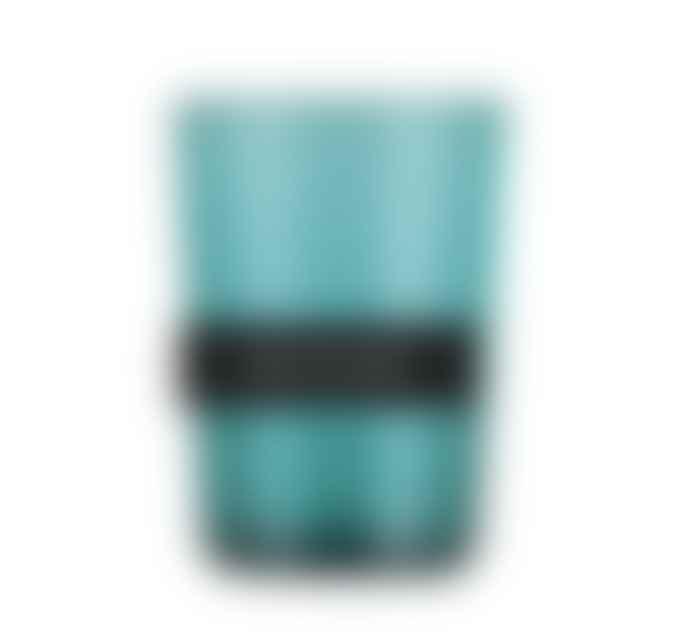 British Color Standard Petrol Blue Handblown Glass Tumbler