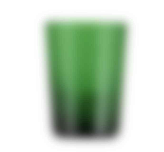 Designed in Colour Emerald Handblown Glass Tumbler