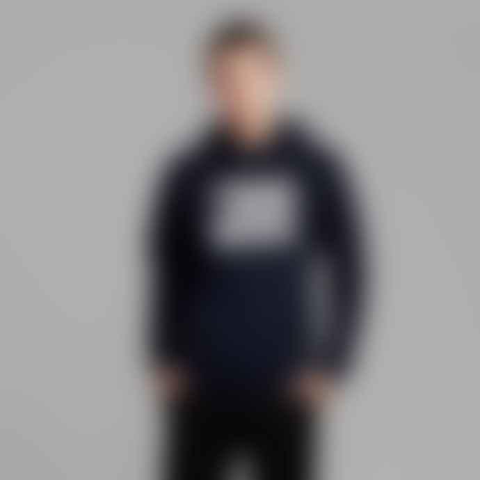 Makia Clothing Navy Bold Hooded Sweatshirt