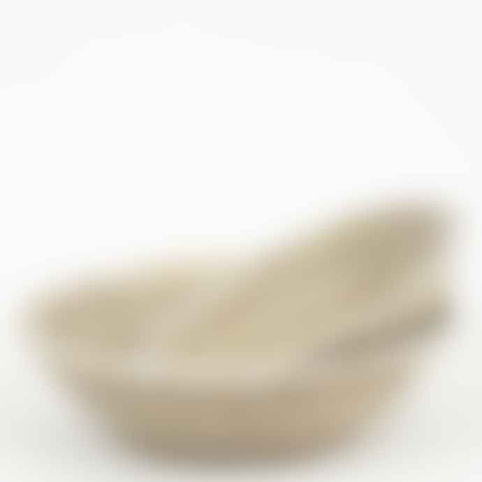 Afroart Small White Sene Bread Basket