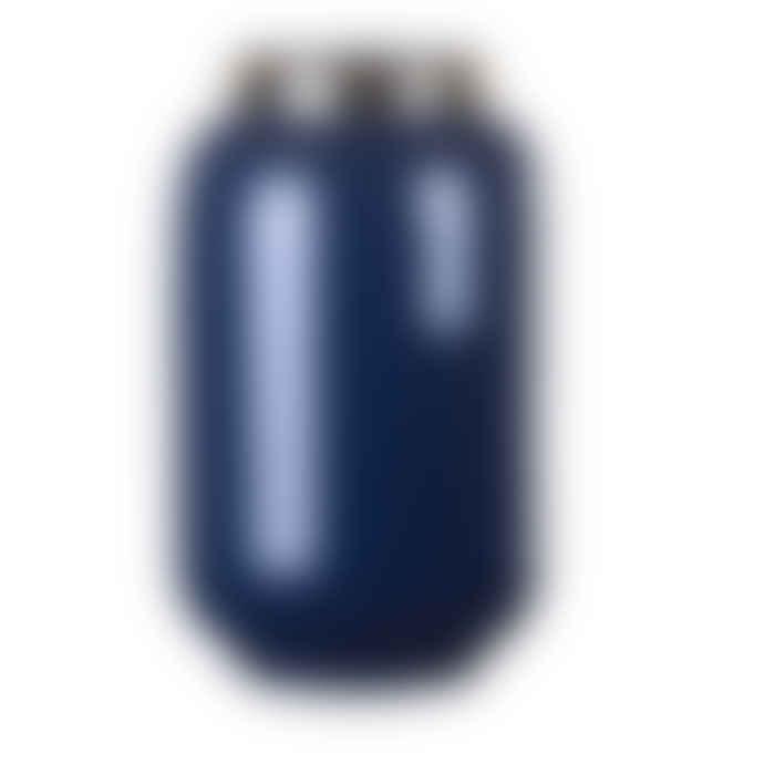 Gift Company Small Midnight Blue Metal Saigon Vase