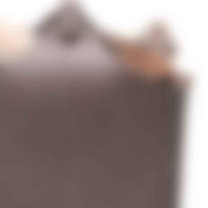 Ørskov Gray Leather Firewood Basket