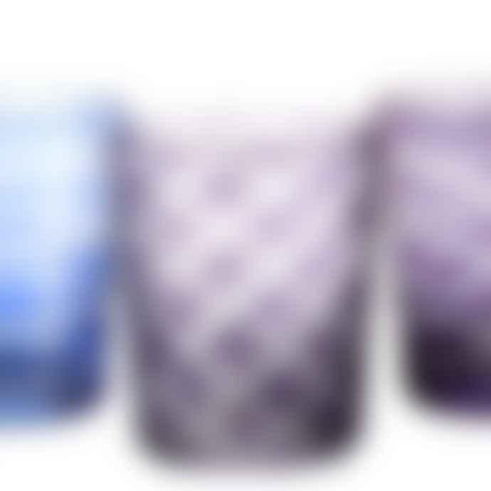 Pols Potten Multicolor Cobalt Cut Mix Glass Set
