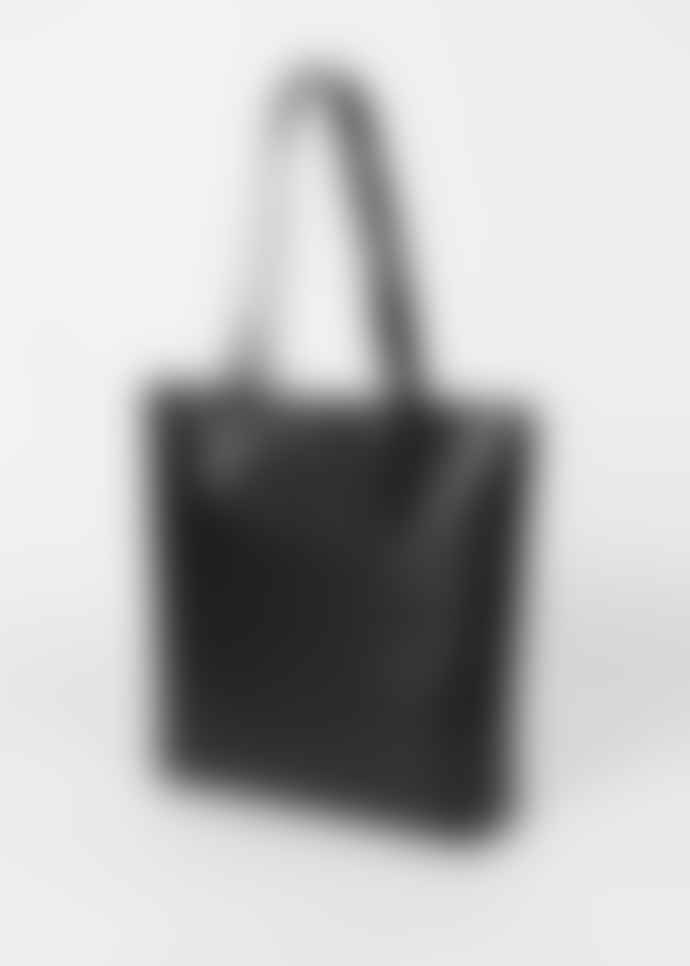 PS by Paul Smith Black Rabbit Pocket Leather Tote Bag