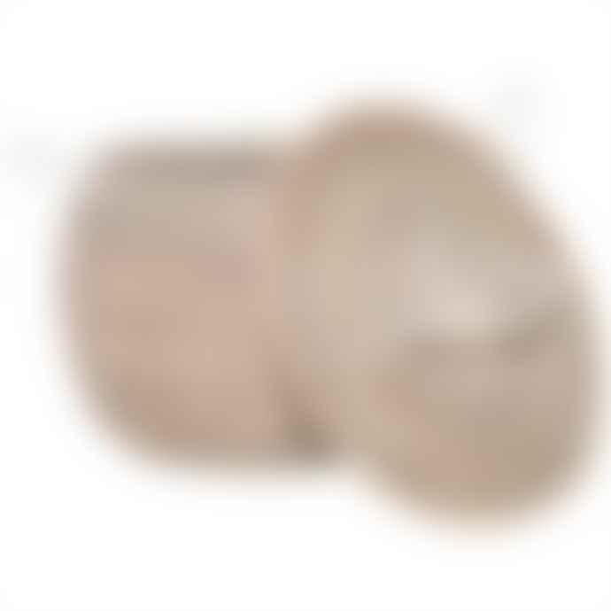 Afroart White Sene X Oval Basket