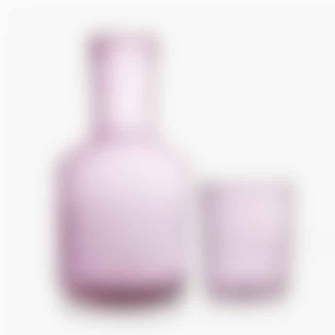 Maison Balzac Pink Carafe & Glass
