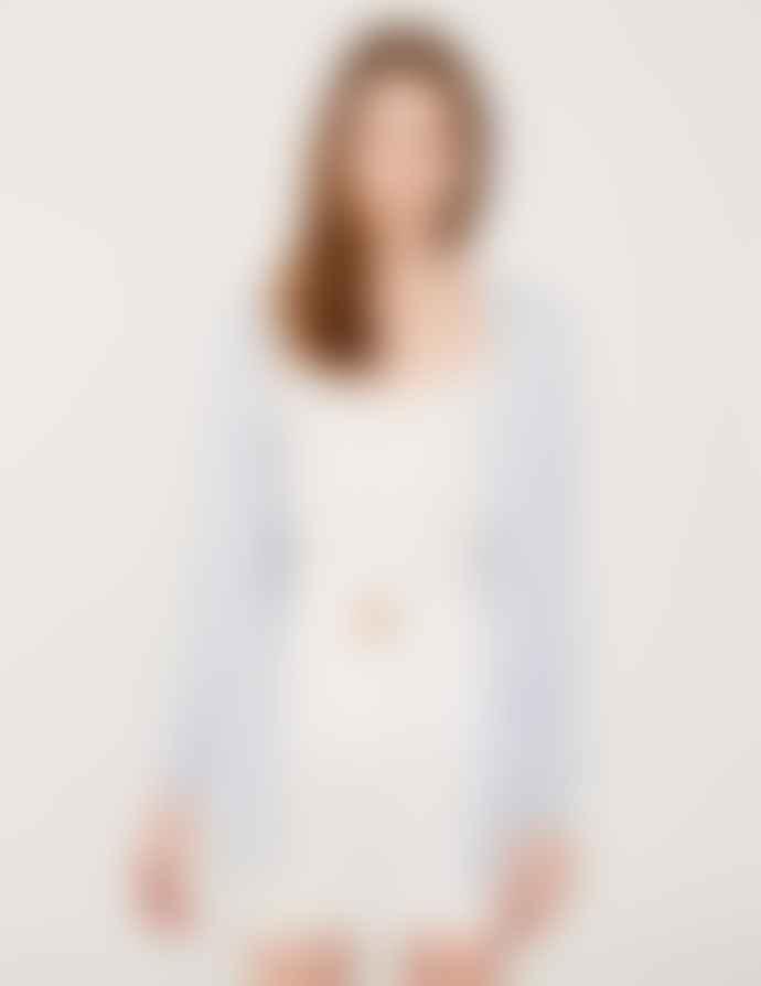 Yerse White Linen Shorts
