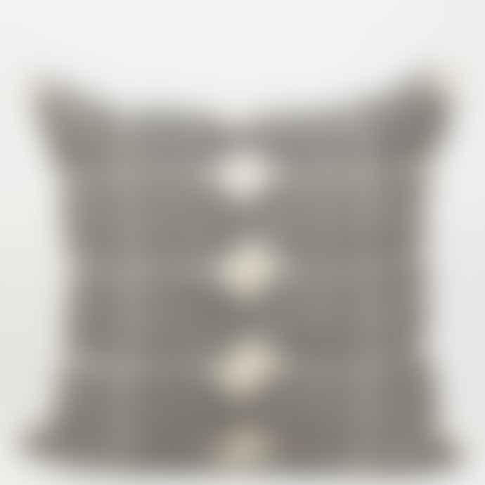 Afro Art 50x50cm White Black Tile Cushion Cover