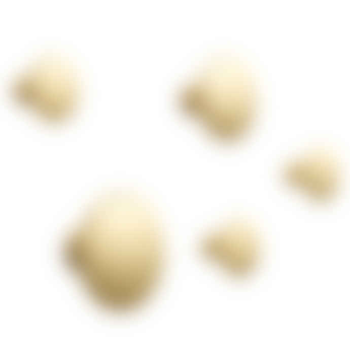 Muuto Set Of 5 Brass The Dots Metal Hooks