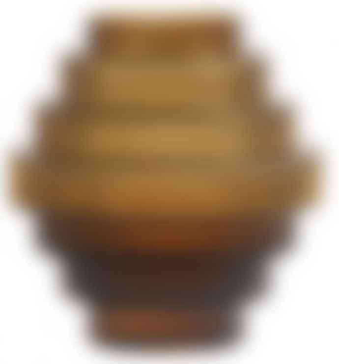 Nordal Rill Vase Amber Small