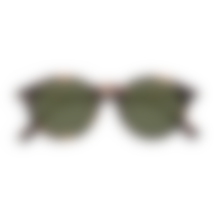 IZIPIZI Sunglasses in Tortoise with Green Lenses (Frame Shape: #D)