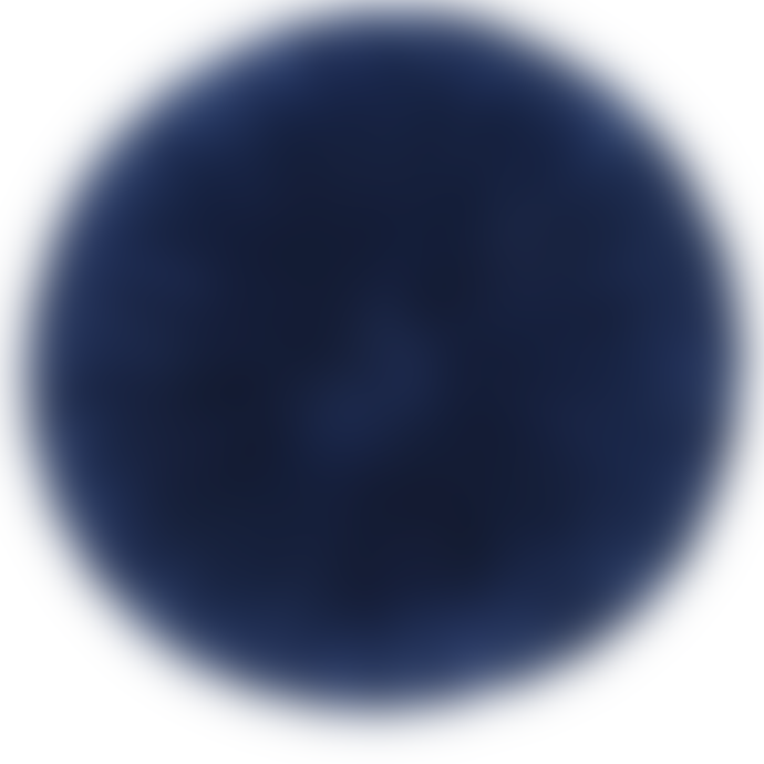 Bramley & White Round Navy Ruffle Scatter