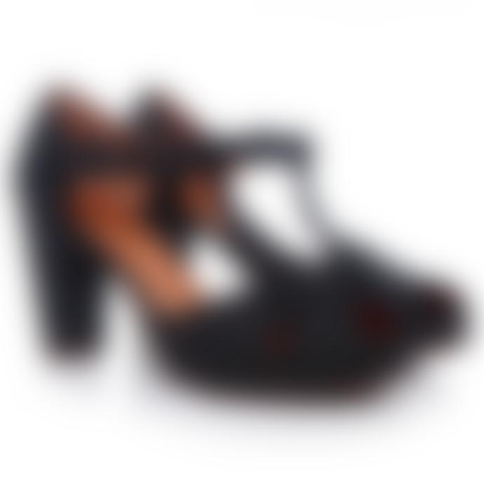 Chie Mihara  Black Polka Dots Giki Shoes