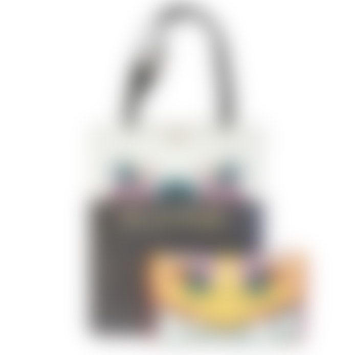 House of disaster Mustard and Grey Faux Leather Frida Kahlo Tote and Clutch Bag