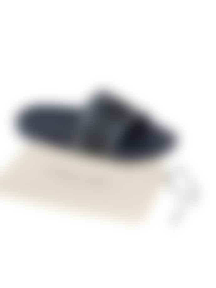 Corneliani Blue Slider Sandals