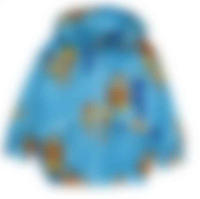 Mini Rodini Blue Monkeys Print Sport Light Jacket