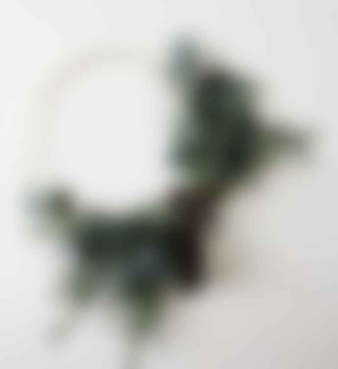 Madam Stoltz Small Hoop Wreath