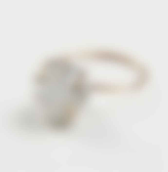 Friedasophie Gold Herkimer Diamond GF Ring