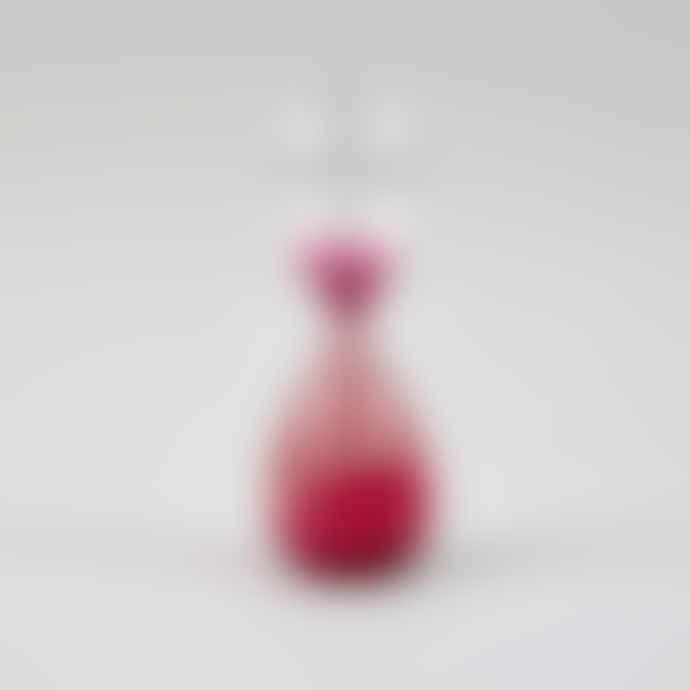HAY Pink 15 Minutes Glass Sand Timer