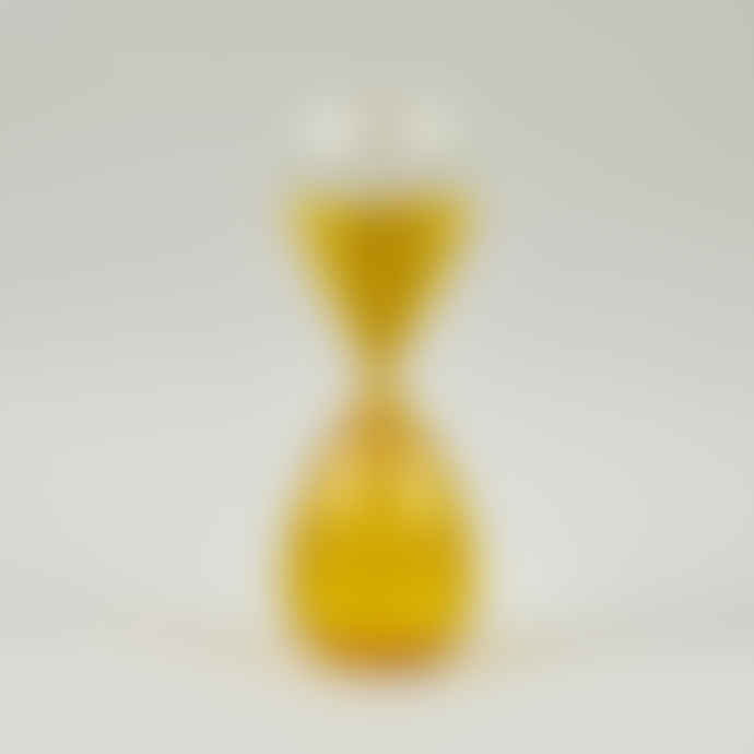 HAY Yellow 30 Minutes Glass Sand Timer