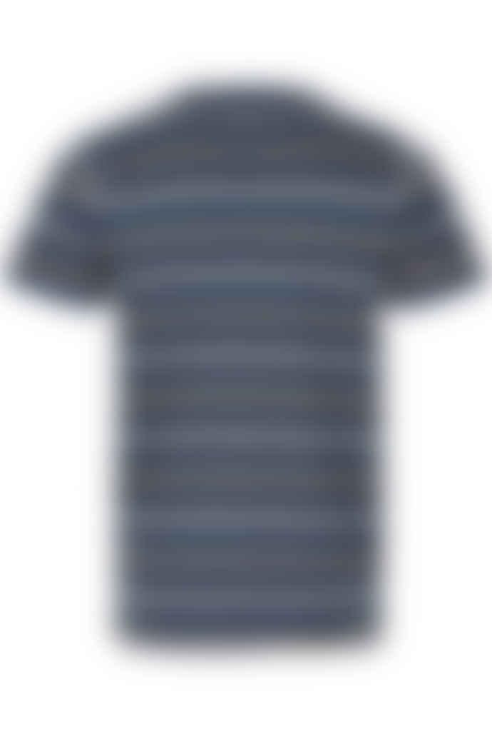 Anerkjendt Navy Striped Pattern T-Shirt