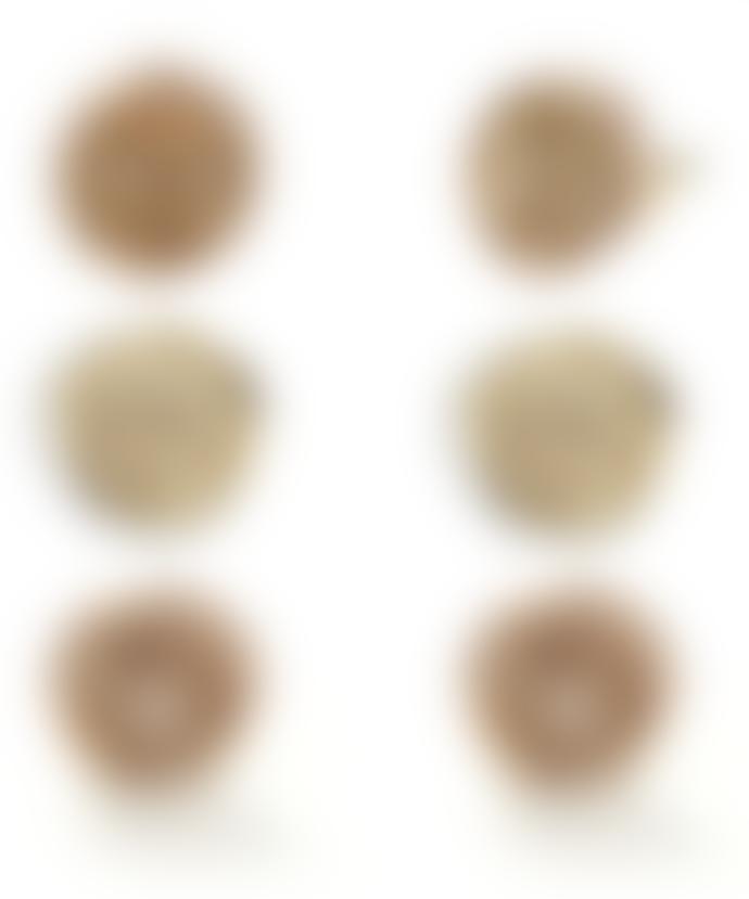 """JdL Jewellery 9k Gold Lock Of Love """"Petites"""" Wax Seal Stud Earrings (Pair)"""