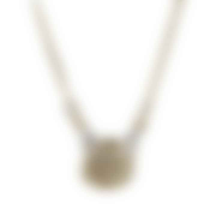 JdL Jewellery Gold Plated Silver Zodiac Wax Seal Necklace with Moving Hands