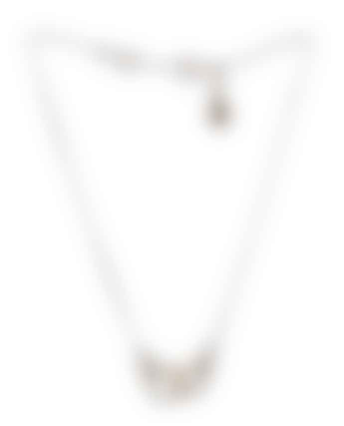 JdL Jewellery Sterling Silver Mini Handcuff Necklace, 18""