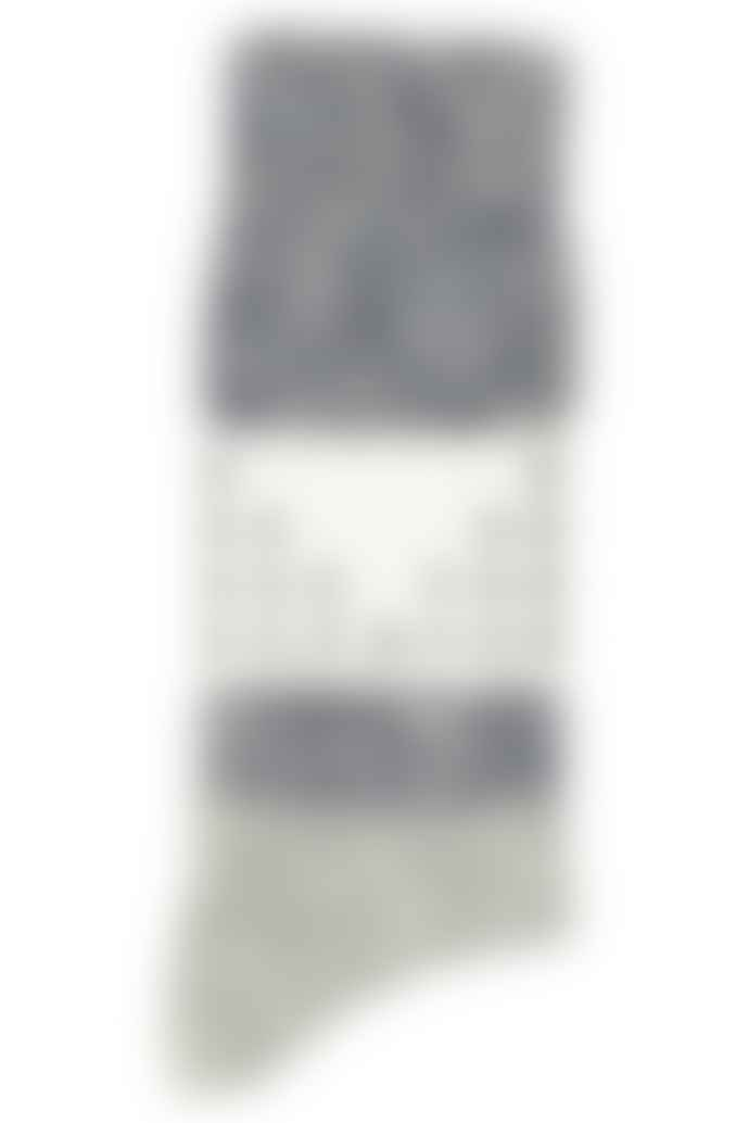 Escuyer Colour Block Melange socks in blue, made in Italy