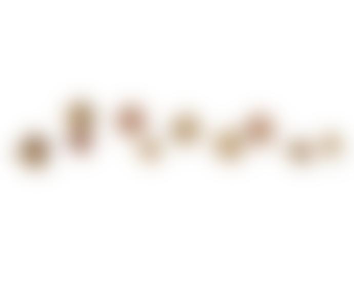 JdL Jewellery 9ct Rose Gold Single Sentiment Stud Earring, Large