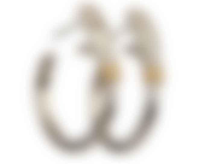 JdL Jewellery Sterling Silver Hand Hoop Earrings