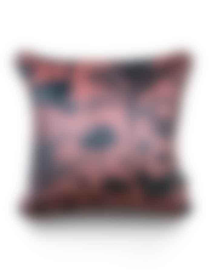 Divine Savages Crane Fonda Velvet Cushion
