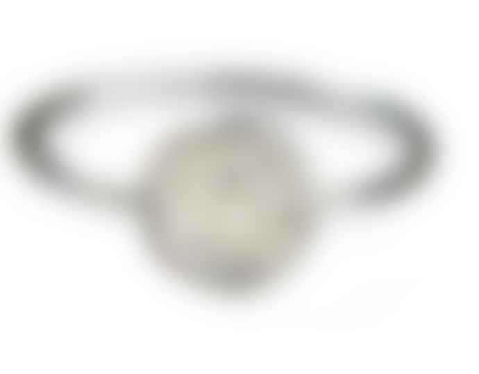 JdL Jewellery 9ct White Gold Lock of Love Stacking Ring with Diamonds
