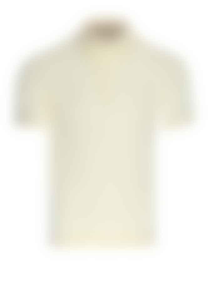 John Smedley Lemon White Haddon Polo Shirt