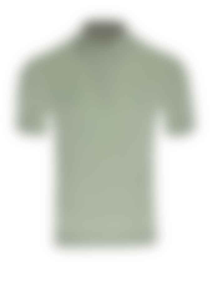 John Smedley Burlap Green Haddon Polo Shirt