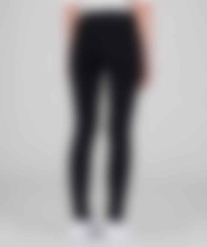 Dr Denim Black Lexy Second Skin Jeans