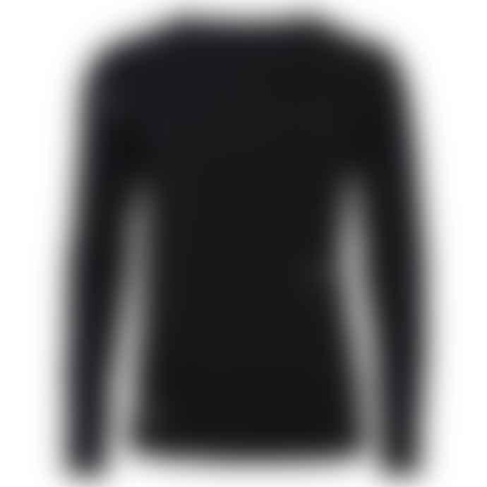 Ingmarson Eyes Mens Top In Black With Long Sleeve