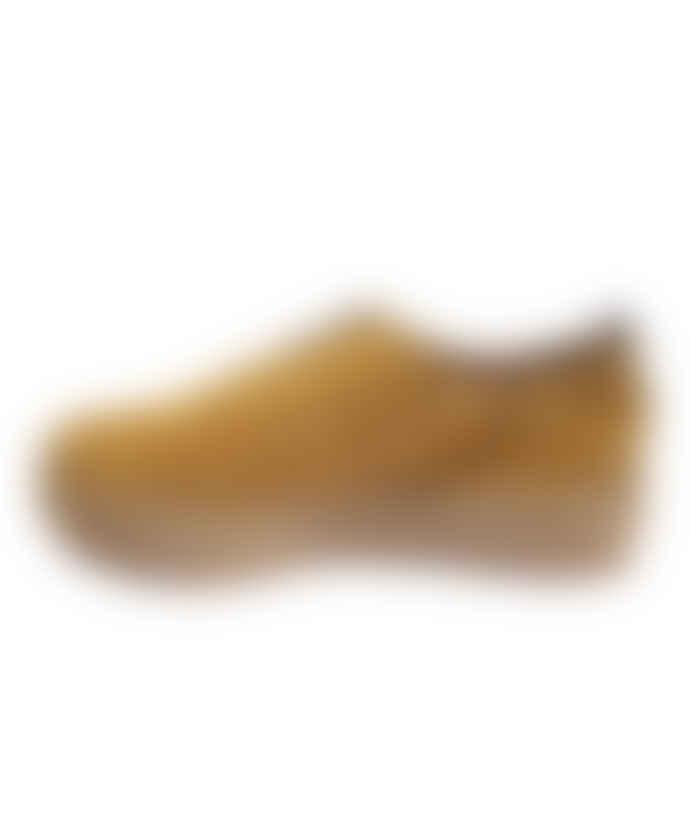 Gaimo Ocre Suede Roulette Shoes