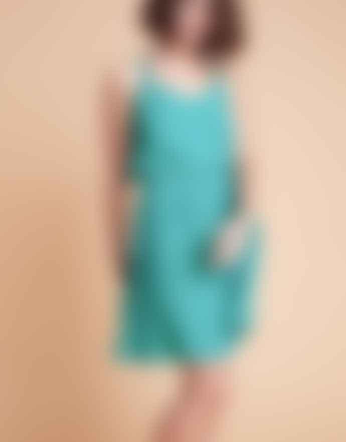 Louizon Green Viscose Keaton Dress