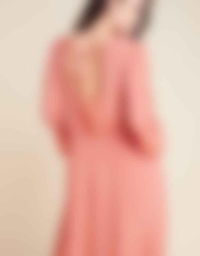 Louizon Pink Viscose Eloise Dress