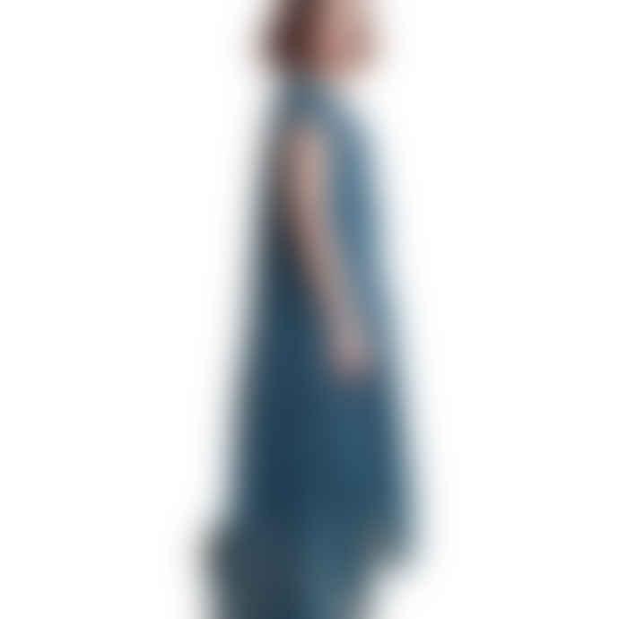 Louizon Print Blue Viscose Rita Dress